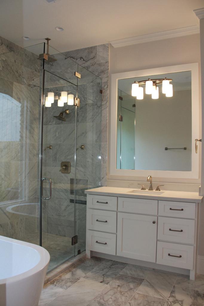 Custom master bathroom vanity