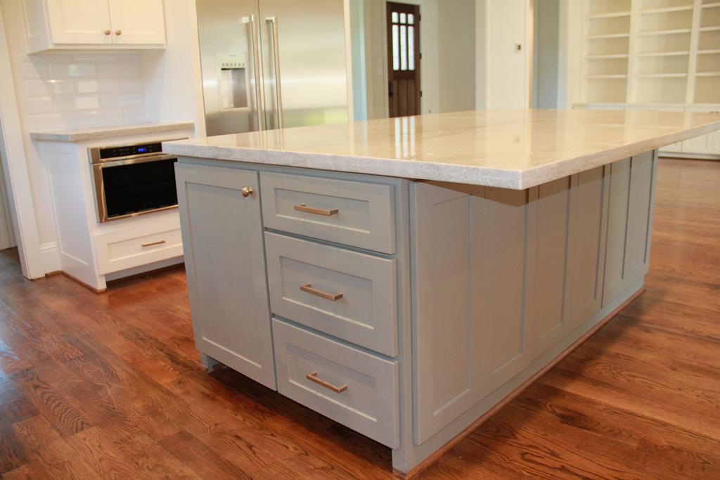Custom Kitchen island with cabinets
