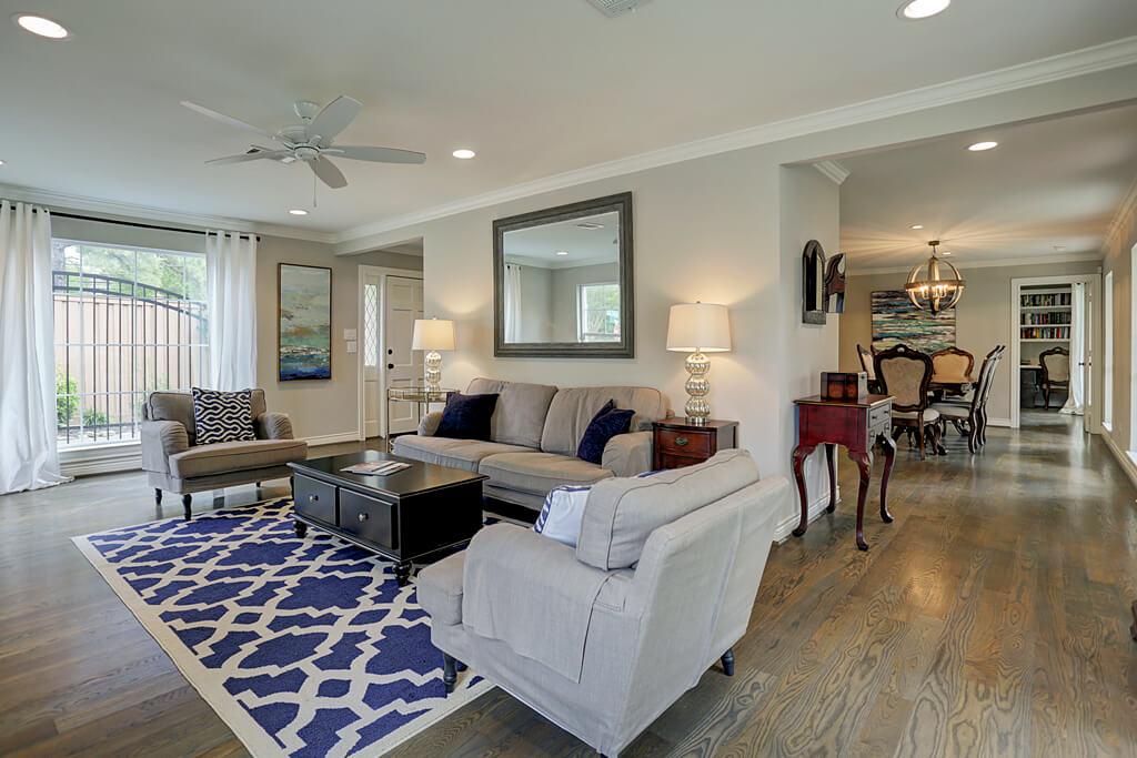 Remodeled Custom living room