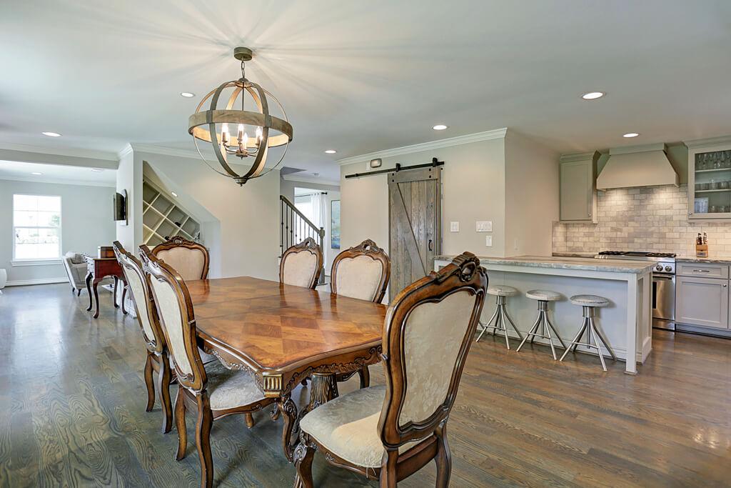 Open design dining room kitchen